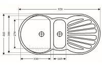 Duży zlewozmywak kwarcowy ZKW-01 - wymiary
