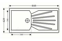 Jednokomorowy zlewozmywak kwarcowy ZKW-12 - WYMIARY