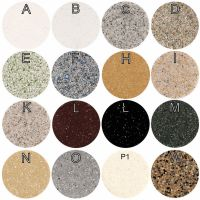 Prostokątny zlewozmywak kwarcowy jednokomorowy ZKW-22 - kolory