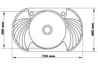 Wymiary zlewozmywaka jednokomorowego z dwoma ociekaczami SOLANO 35